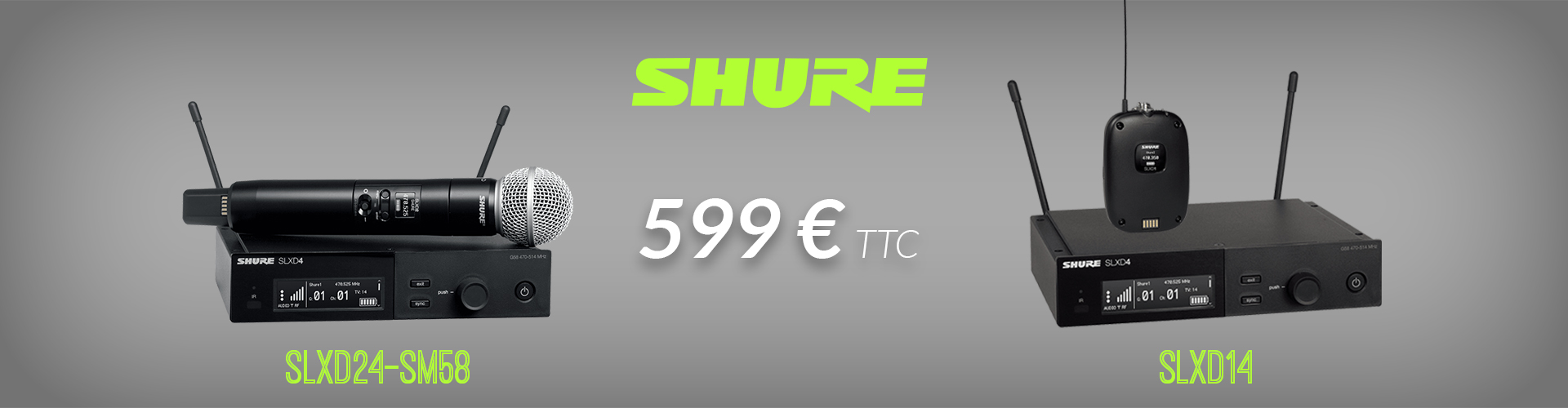 Remise Shure SLXD